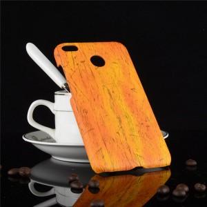 Пластиковый непрозрачный матовый чехол с текстурным покрытием Дерево для Xiaomi RedMi 4X  Оранжевый