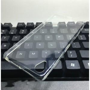 Силиконовый глянцевый транспарентный чехол для Sony Xperia X