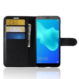 Чехол портмоне подставка на силиконовой основе с отсеком для карт на магнитной защелке для Huawei Honor 7A/Y5 Prime (2018)
