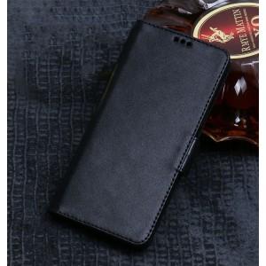 Кожаный чехол горизонтальная книжка подставка (премиум нат. вощеная кожа) с крепежной застежкой для Asus ZenFone 3 Deluxe