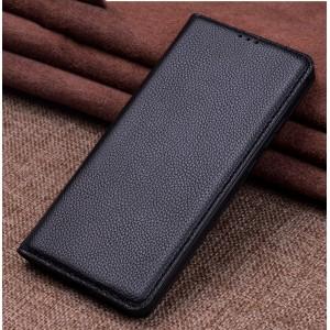 Кожаный чехол горизонтальная книжка подставка (премиум нат. кожа) для Xiaomi RedMi Note 5/5 Pro