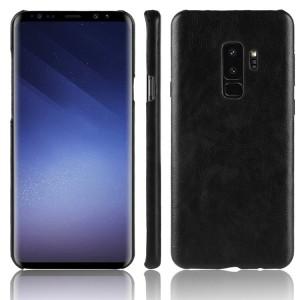 Чехол накладка текстурная отделка Кожа для Samsung Galaxy S9 Plus Черный
