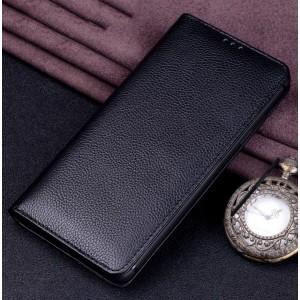 Кожаный чехол горизонтальная книжка (премиум нат. кожа) для Iphone X 10