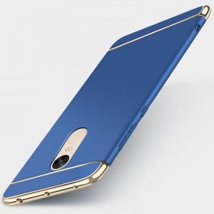 Пластиковый непрозрачный матовый чехол сборного типа с улучшенной защитой элементов корпуса для Xiaomi RedMi Note 4