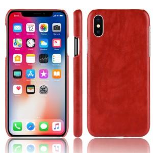 Чехол накладка текстурная отделка Кожа для Iphone X 10 Красный