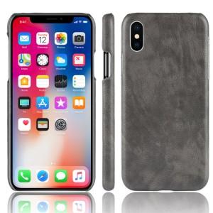 Чехол накладка текстурная отделка Кожа для Iphone X 10 Серый