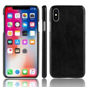 Чехол накладка текстурная отделка Кожа для Iphone X 10 Черный