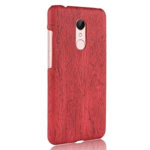 Пластиковый непрозрачный матовый чехол с текстурным покрытием Дерево для Xiaomi RedMi 5 Plus