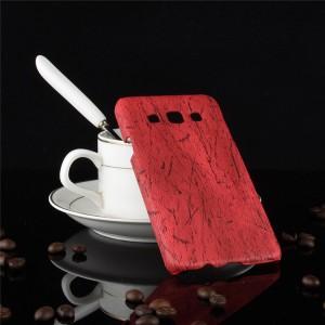 Пластиковый непрозрачный матовый чехол с текстурным покрытием Дерево для Samsung Galaxy A3