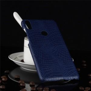 Пластиковый непрозрачный матовый чехол с текстурным покрытием Кожа для ASUS ZenFone Max Pro M1 Синий