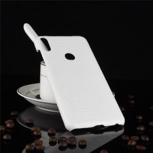 Пластиковый непрозрачный матовый чехол с текстурным покрытием Кожа для ASUS ZenFone Max Pro M1 Белый