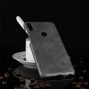 Пластиковый непрозрачный матовый чехол с текстурным покрытием Кожа для ASUS ZenFone Max Pro M1 Серый