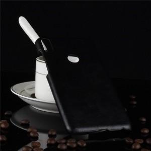 Пластиковый непрозрачный матовый чехол с текстурным покрытием Кожа для ASUS ZenFone Max Pro M1 Черный