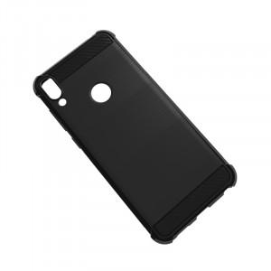 Силиконовый матовый непрозрачный чехол с усиленными углами для ASUS ZenFone Max Pro M1 Черный
