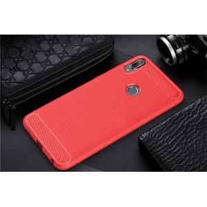 Силиконовый матовый непрозрачный чехол для ASUS ZenFone Max Pro M1 Красный