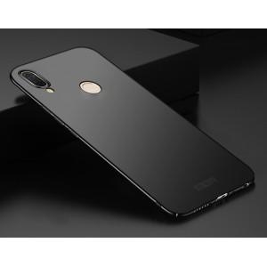 Пластиковый непрозрачный матовый чехол с улучшенной защитой элементов корпуса для ASUS ZenFone Max Pro M1 Черный