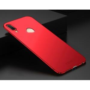Пластиковый непрозрачный матовый чехол с улучшенной защитой элементов корпуса для ASUS ZenFone Max Pro M1 Красный