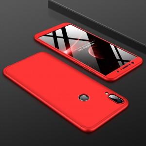 Двухкомпонентный пластиковый непрозрачный матовый сборный чехол для ASUS ZenFone Max Pro M1 Красный
