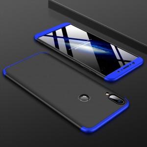 Двухкомпонентный пластиковый непрозрачный матовый сборный чехол для ASUS ZenFone Max Pro M1 Синий