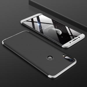 Двухкомпонентный пластиковый непрозрачный матовый сборный чехол для ASUS ZenFone Max Pro M1 Серый