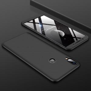 Двухкомпонентный пластиковый непрозрачный матовый сборный чехол для ASUS ZenFone Max Pro M1 Черный