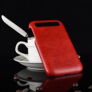 Пластиковый непрозрачный матовый чехол с текстурным покрытием Кожа для Blackberry Classic  Красный