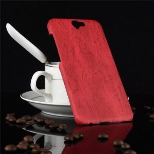 Пластиковый непрозрачный матовый чехол с текстурным покрытием Дерево для HTC One A9