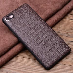 Кожаный чехол накладка (премиум нат. кожа крокодил) для Iphone 8