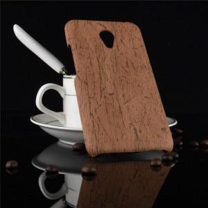 Пластиковый непрозрачный матовый чехол с текстурным покрытием Дерево для Meizu M5 Note