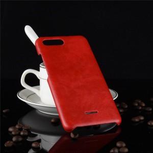 Пластиковый непрозрачный матовый чехол с текстурным покрытием Кожа для Xiaomi RedMi 6A  Красный