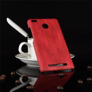 Пластиковый непрозрачный матовый чехол с текстурным покрытием Дерево для Xiaomi Redmi 3S/3 Pro