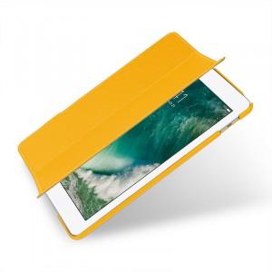 Кожаный смарт чехол книжка подставка сегментарный (премиум нат. кожа) для Ipad (2018)