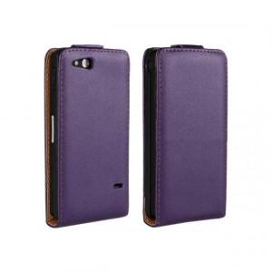 Чехол вертикальная книжка на пластиковой основе на магнитной защелке для Sony Xperia go Фиолетовый