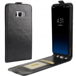 Чехол вертикальная книжка на силиконовой основе с отсеком для карт на магнитной защелке для Samsung Galaxy S8 Plus