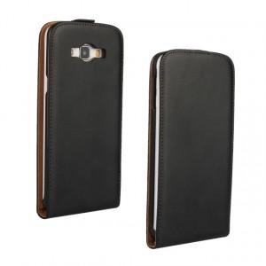 Чехол вертикальная книжка на пластиковой основе на магнитной защелке для Samsung Galaxy A8 Черный