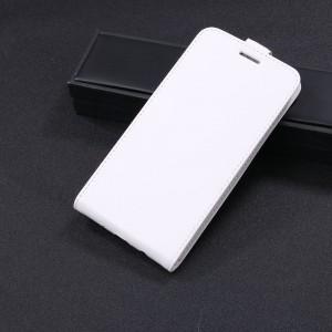 Чехол вертикальная книжка на силиконовой основе с отсеком для карт на магнитной защелке для Huawei Nova 2i  Белый