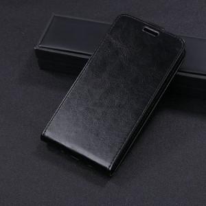 Чехол вертикальная книжка на силиконовой основе с отсеком для карт на магнитной защелке для Huawei Nova 2i  Черный
