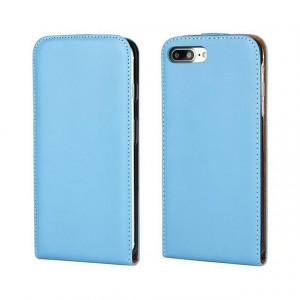 Чехол вертикальная книжка на силиконовой основе на магнитной защелке для Iphone 7/8 Голубой