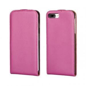 Чехол вертикальная книжка на силиконовой основе на магнитной защелке для Iphone 7/8 Пурпурный