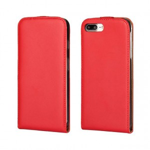 Чехол вертикальная книжка на силиконовой основе на магнитной защелке для Iphone 7/8 Красный