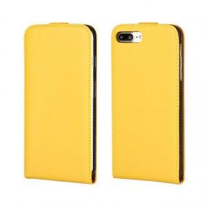 Чехол вертикальная книжка на силиконовой основе на магнитной защелке для Iphone 7/8 Желтый