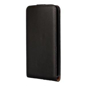 Чехол вертикальная книжка на пластиковой основе на магнитной защелке для Microsoft Lumia 640 Черный