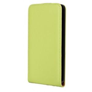 Чехол вертикальная книжка на пластиковой основе на магнитной защелке для Microsoft Lumia 640 Зеленый