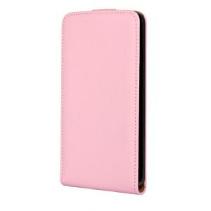 Чехол вертикальная книжка на пластиковой основе на магнитной защелке для Microsoft Lumia 640 Розовый