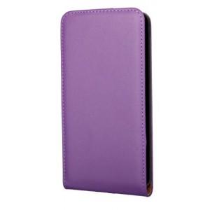 Чехол вертикальная книжка на пластиковой основе на магнитной защелке для Microsoft Lumia 640 Фиолетовый