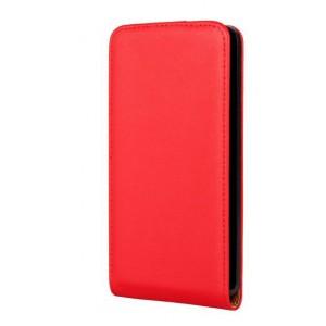 Чехол вертикальная книжка на пластиковой основе на магнитной защелке для Microsoft Lumia 640 Красный
