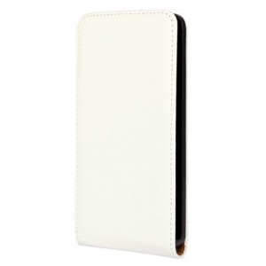 Чехол вертикальная книжка на пластиковой основе на магнитной защелке для Microsoft Lumia 640 Белый
