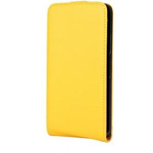 Чехол вертикальная книжка на пластиковой основе на магнитной защелке для Microsoft Lumia 640 Желтый