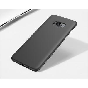 Пластиковый непрозрачный матовый чехол с улучшенной защитой элементов корпуса для Samsung Galaxy S8 Черный
