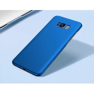 Пластиковый непрозрачный матовый чехол с улучшенной защитой элементов корпуса для Samsung Galaxy S8 Синий